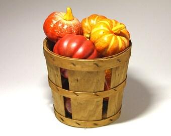 Primitive Farm Basket with Split Wood - circa 1970's