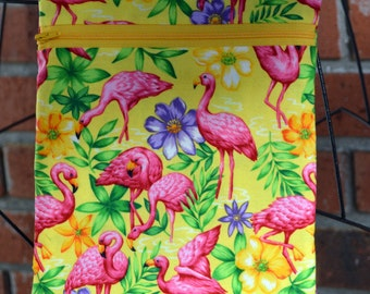 Handmade - Flamingo - Tropical  - Sling Bag, Cross Body Bag, Hipster, Travel Bag - Hands free