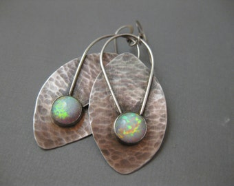 Sterling silver ovals with Opals