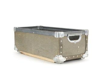 vintage industrial fiberboard storage bin