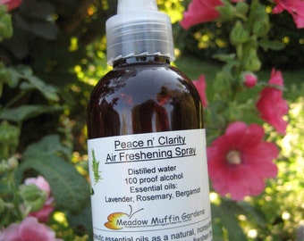 Air Spray, Eco Friendly Clarity & Peace Non-Aerosol Room Freshening  Spray, lavender, rosemary, bergamot