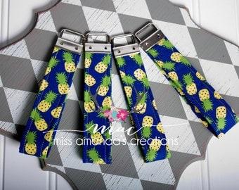 Pineapple Fabric Key Chain