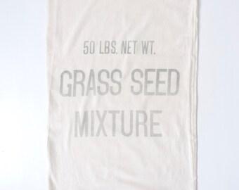 Vintage Grass Seed Sack 50 lb