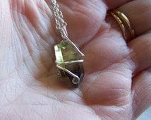 Smoky Citrine Raw Gemstone Wire Wrapped Pendant
