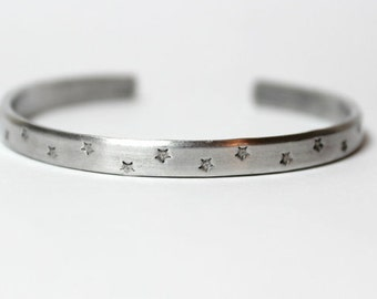 Be Still And Know, Hidden Message, Star Bracelet, Skinny Stacking Bracelet, Aluminum Cuff Bracelet, Motivational Jewelry, Inspiring Words