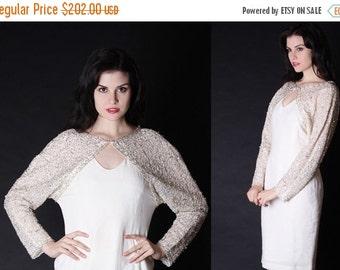 70% Off FINAL SALE - Vintage Wedding Dress - Beaded Wedding Dress - Lace Wedding Dress - Short Wedding Dress - 2692
