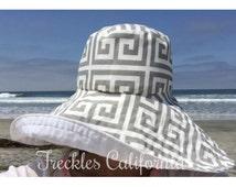 Summer Sun Hat Wide Garden hat Vacation sun hat by  Freckles California