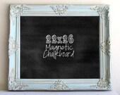 Unique Christmas Gift for Her Wedding Signage CHALKBOARD Distressed Blue Decor Vintage Wedding Wedding Menu Framed Chalkboard Kitchen Teal