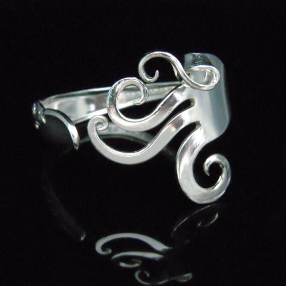 Antique Silverware Jewelry Fork Bracelet in Original Fancy Design
