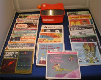 Vintage 1980's GAF Viewmaster and 20 Reel Packets with 3 Reels Each