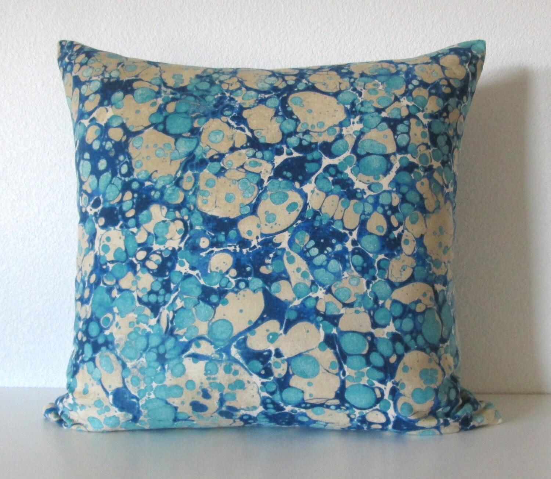 Etsy Throw Pillows Jonathan Adler Velino Heliotrope Velvet Blue Paint Splash