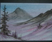 aceo art painting original watercolour SFA miniature ref 249