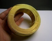 Aluminum wire 12 gauge-  2mm - 164 foot  roll - good quality -  yellow gold color - 50 meters - ALR4