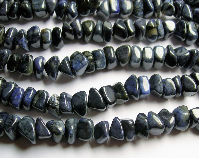 Dumortierite gemstone - rounded chip nugget - full strand -  Dumortierite gemstone - PSC285