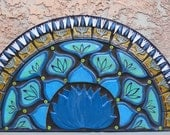 Tile Mosaic, Mosaic wall art, Handmade tile, Garden art, home decor, southwest tile, Succulent centerpiece, patio decor, Desert Decor