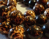 Bombona Beads, Pambil Beads, Brown and White Marble, Organic Beads, Natural Beads, Vegetable Ivory Beads, EcoBeads