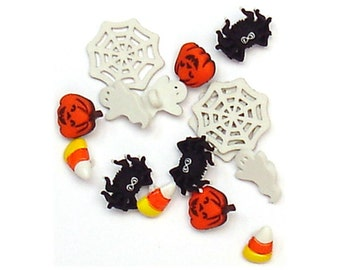 Jesse James Buttons Halloween Button Embellishments Things that Go Boo!