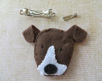 Terrier Puppy Handmade Felt Hair Clip Or Pin