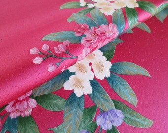 Japanese pure silk Pink Floral design 20-9