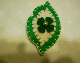 Felt Hair Clip, Felt Leaf Hair Clip Green Leaf Hair Clip Felt Hair Fashion Felt Hair Accessories
