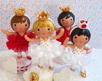 Available~Red Ballerina Cake Topper~Babys 1st Cake Smash Birthday Party Red Tutu Winter~ Valentine's Day Little Girl Toddler~Dance recital