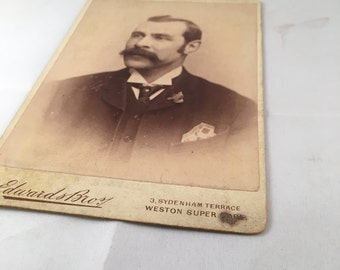 Antique Photo - Stoic Man
