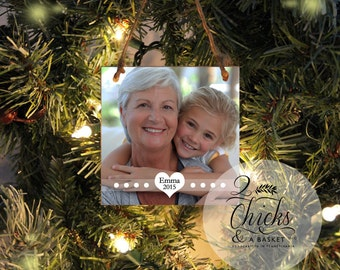 Personalized Christmas Ornament, Photo Ornament, Custom Photo Ornament, Grandma Christmas Gift, Grandma Ornament