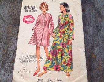 Vintage Butterick Sewing Pattern 4238 Misses' Size Medium Bust Dress Caftan
