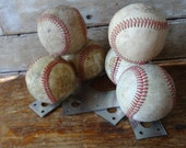 Old Pair of Baseball Book Ends