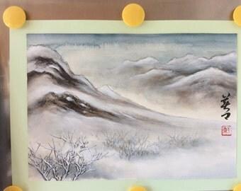 Original Chinese Painting-Natural Scenery(Snow Scenery)