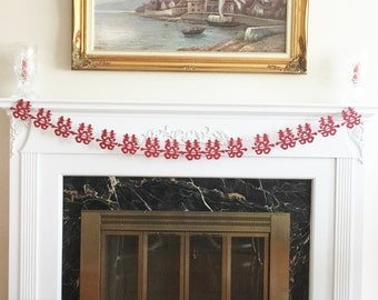 6 Foot - 3.5' Double Happiness Garland in Brick Red - Party Shower Banner