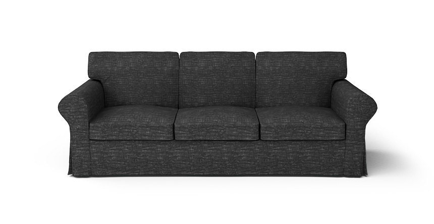 Ikea ektorp 3 seater sofa slipcover only in nomad black fabric Ikea discontinued sofa