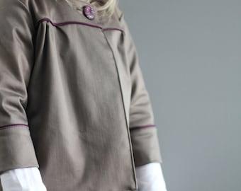 Sample SALE Olive khaki tea coat 5 ready to ship jacket holiday shrug 5y
