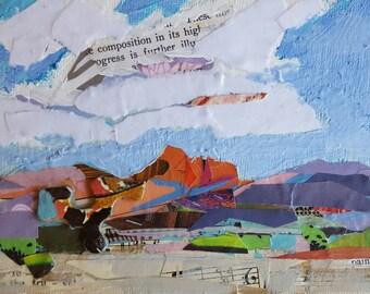 Collage Mixed Media Gouache Collage Art Gouache Acrylic