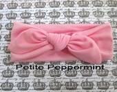 Pink baby headband, baby head wrap, toddler headband - Baby Turban, Bow Knot Baby headband, Baby Bow Headband,Knotted Bow Headband