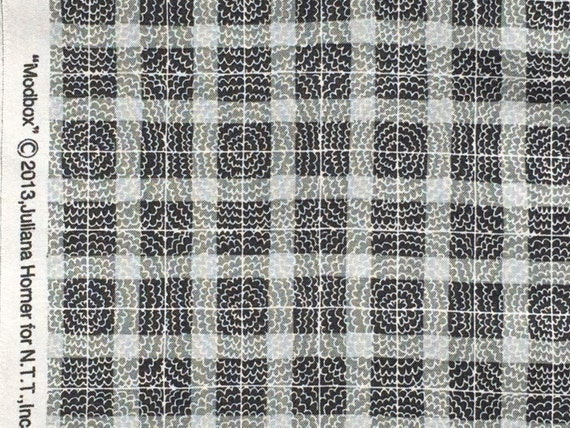 Modbox plaid gray Juliana Horner Fabric Traditions  FQ or more