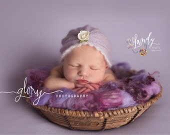 Newborn hat.  Newborn photo prop. Baby girl