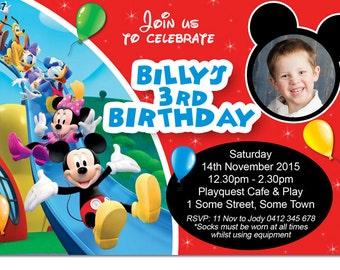 Boys Mickey Mouse Clubhouse Digital Birthday Invitation