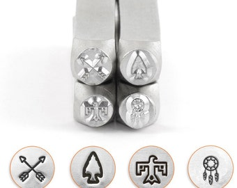 Southwest Symbols Combo Metal Stamp ImpressArt-6mm  Design Stamp-Perfect for Your Hand Stamping Needs-Steel Stamps-Metal Supply Chick