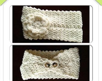"CRAFT FAIR  SALE Crochet 5"" romance headband"