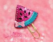 Cute Watermelon Glitter Planner Clip