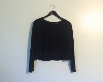 Sculptural Sweater Black Avant Garde Small Cropped