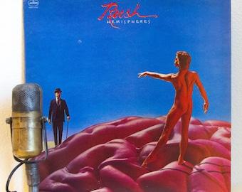 "ON SALE Rush Vinyl Record LP Progressive Rock Canadian 1970s Album Classic Rock Rush ""Hemispheres"" (Original 1978 Polygram Records w/ ""The T"