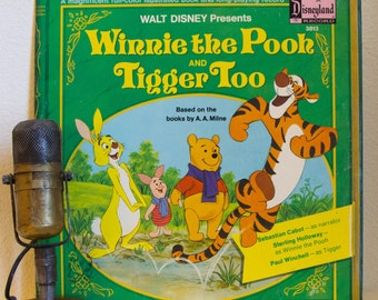 "ON SALE Walt Disney Vinyl Record Album LPs 1970s Children Kids Babies Family Fun All Ages Joy ""Winnie The Pooh and Tigger Too"" (1974 Buena V"