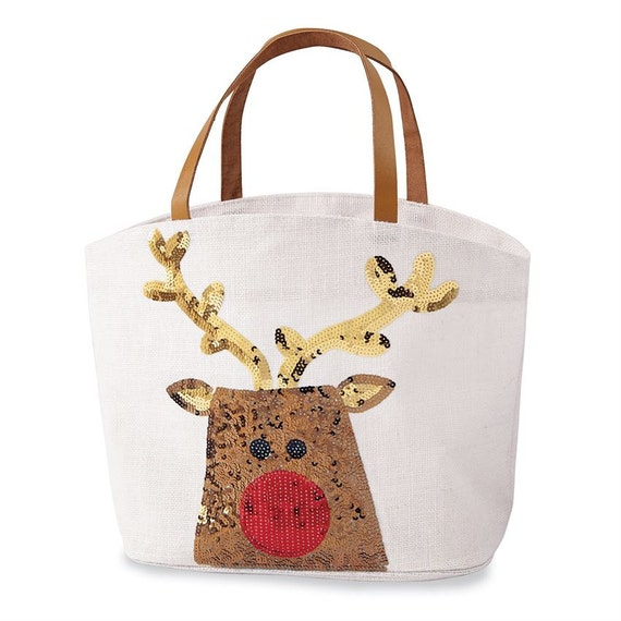 Christmas sequin tote mudpie holiday