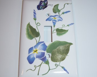 Morning Glories - single light switch cover