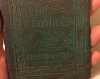 IRISH MELODIES by Thomas Moore - Miniature Book Little Leather Library 1920s Antique Vintage