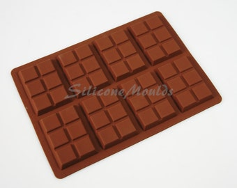 8 cell 6 Section Chocolate Bar 35g Candy Professional Chocolatiers Silicone Mould Mold N076