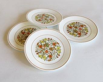 "Corning Corelle ""Indian Summer"" Salad Plates - 8.5"" Plates - Set of 4"