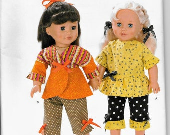 Simplicity 2086 Its So Easy  18 inch Doll Clothes New Sewing Pattern